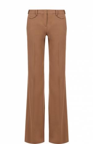 Расклешенные брюки со стрелками No. 21. Цвет: бежевый