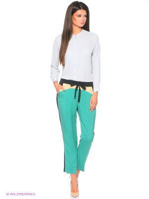 Брюки Pantaloni Torino. Цвет: зеленый