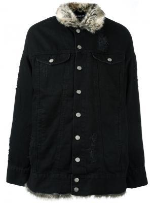 Джинсовая куртка свободного кроя Misbhv. Цвет: чёрный