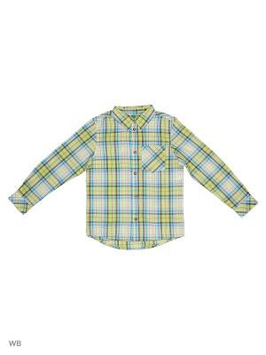 Рубашка United Colors of Benetton. Цвет: салатовый, синий