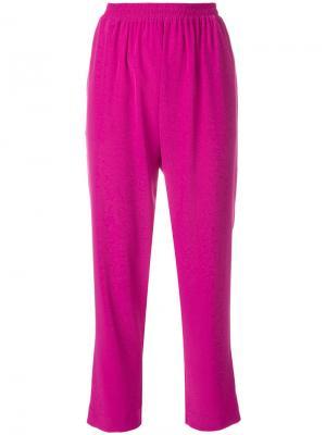 Укороченные брюки с завышенной талией Gianluca Capannolo. Цвет: розовый и фиолетовый