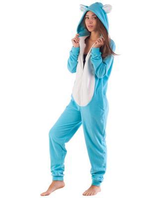 Домашний комбинезон Снежный Мишка FUNKY SNOW BEAR HOME SUIT RIDE. Цвет: голубой