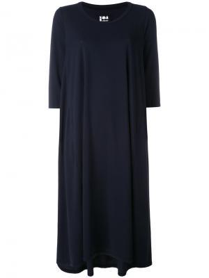 Короткое платье шифт Labo Art. Цвет: синий