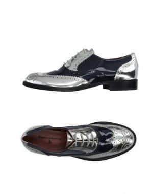 Обувь на шнурках SETTANTATRE LR. Цвет: серебристый