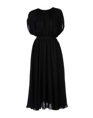 Длинное платье VALENTINO. Цвет: черный