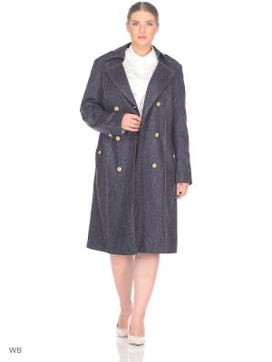 Пальто BERKLINE. Цвет: синий