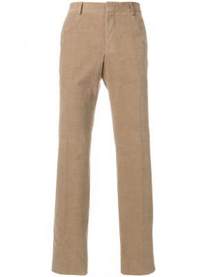 Классические брюки-чинос Z Zegna. Цвет: телесный