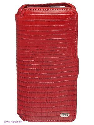 Чехол на 6 айфон Petek. Цвет: красный, серебристый