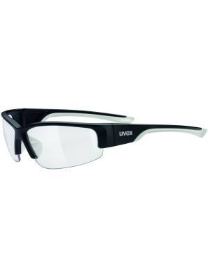 Солнцезащитные очки Uvex. Цвет: черный, белый