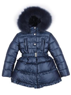 Пальто Pulka. Цвет: темно-синий