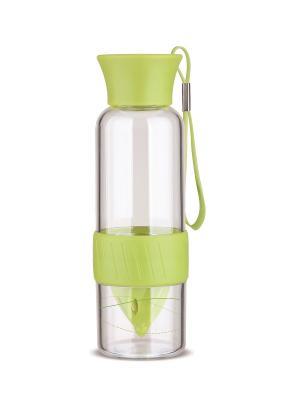Бутылка д/приготовления сока и смузи Folke. Цвет: зеленый