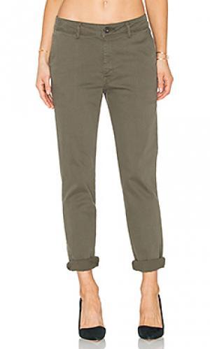 Мешковидные узкие джинсы no. 6 DL1961. Цвет: оливковый