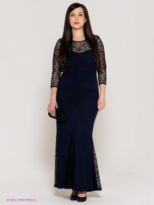 Платье VERDA. Цвет: темно-синий