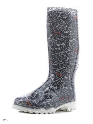 Резиновые сапоги Дюна. Цвет: черный, белый, красный