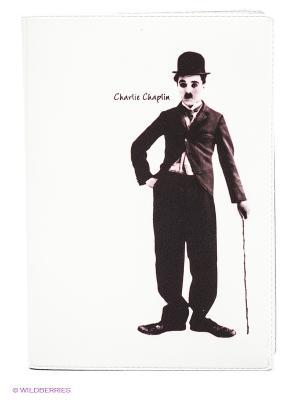 Обложка для автодокументов Чарли Чаплин Mitya Veselkov. Цвет: белый, черный, темно-коричневый