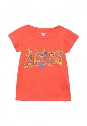 Футболка ASICS. Цвет: оранжевый