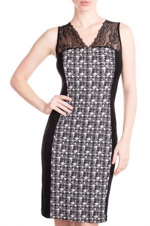 Сорочка ночная Rose&Petal Homewear. Цвет: черный, коко принт