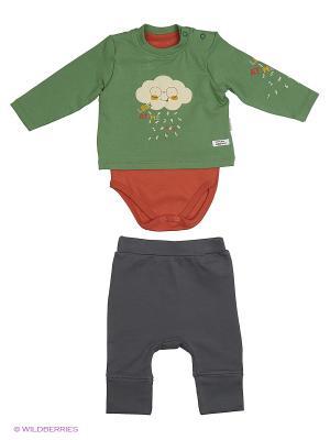 Костюм для малышей WO&GO. Цвет: оливковый, коричневый, антрацитовый