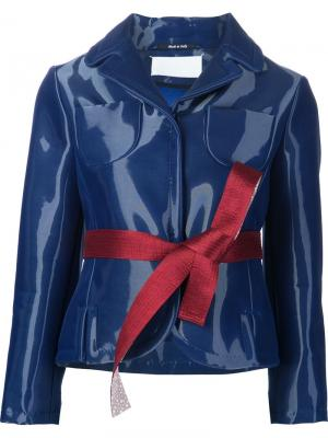 Пиджак с отливом Maison Margiela. Цвет: синий