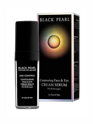 Контурный крем-серум для лица и глаз Sea of Spa. Цвет: черный