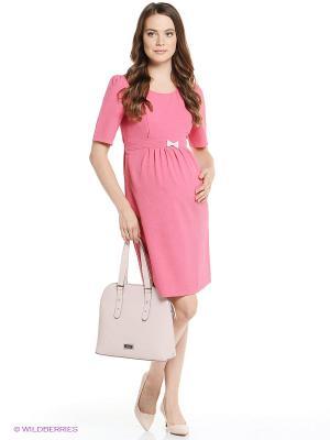 Платье I love mum. Цвет: коралловый