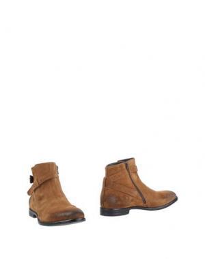 Полусапоги и высокие ботинки ALEXANDER HOTTO. Цвет: желто-коричневый