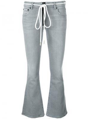Расклешенные джинсы Off-White. Цвет: серый