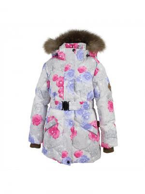 Куртка для девочек NOOMI1 HUPPA. Цвет: молочный