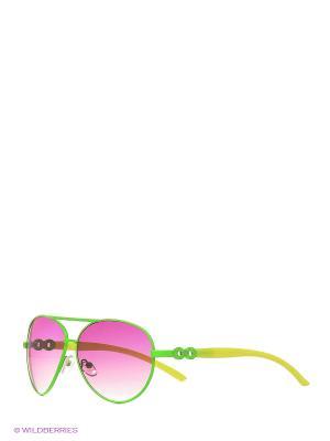 Солнцезащитные очки Vittorio Richi. Цвет: зеленый, лиловый
