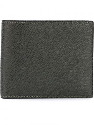 Классический бумажник Valextra. Цвет: серый