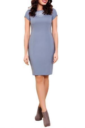 Платье E.LEVY. Цвет: серый
