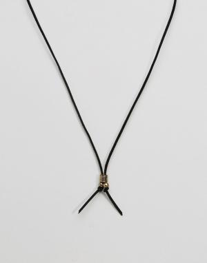 Classics 77 Ожерелье из искусственной замши. Цвет: черный