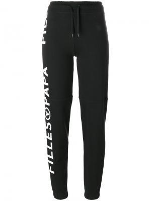 Спортивные брюки с принтом логотипа Filles A Papa. Цвет: чёрный