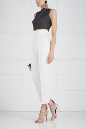 Шелковые брюки Ester Abner. Цвет: молочный
