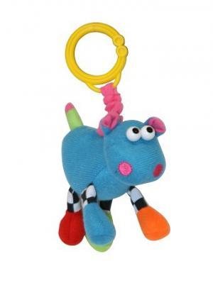 Игрушка мягкая подвеска вибр. бегемот Lorelli Toys. Цвет: серо-коричневый, розовый, сиреневый