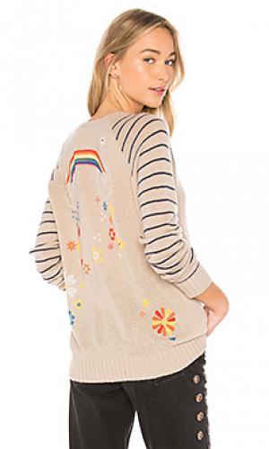 Пуловер с рукавами реглан brooklyn Lauren Moshi. Цвет: беж