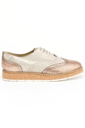 Ботинки на шнурках s.Oliver. Цвет: розовый, золотой