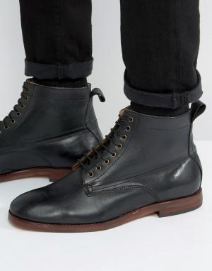 Hudson London Кожаные ботинки на шнуровке Forge. Цвет: черный