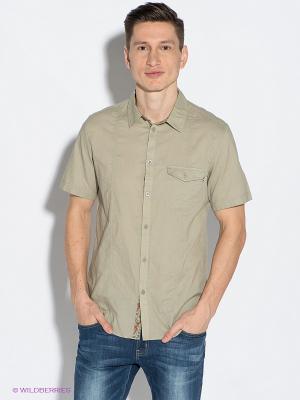 Рубашка F5. Цвет: хаки, терракотовый