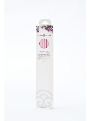 Парфюмерные палочки Лаванда и ваниль 6 шт SERENE HOUSE. Цвет: розовый