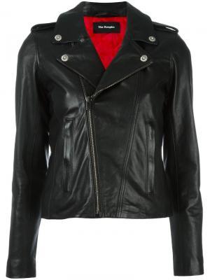 Байкерская куртка The Kooples. Цвет: чёрный