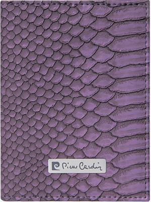 Обложка для паспорта, Pierre Cardin фиолетовая Clamart. Цвет: фиолетовый