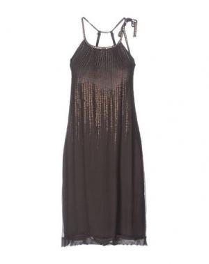 Платье до колена MALÌPARMI. Цвет: свинцово-серый
