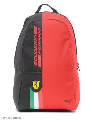 Рюкзак Ferrari Fanwear Backpack Puma. Цвет: красный, черный