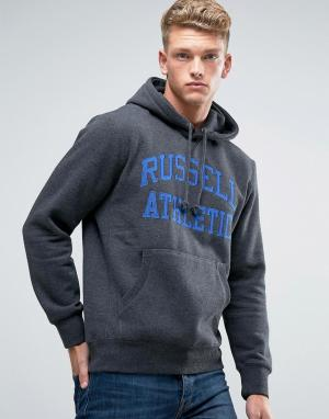 Russell Athletic Худи с логотипом. Цвет: серый