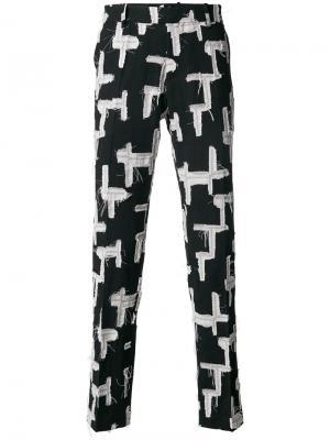 Классические брюки лоскутного кроя Tom Rebl. Цвет: чёрный