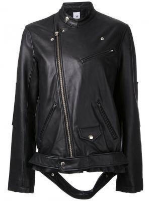 Свободная байкерская куртка Maison Mihara Yasuhiro. Цвет: чёрный