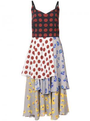 Платье в стиле пэчворк Novis. Цвет: многоцветный