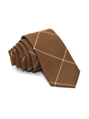 Галстук Churchill accessories. Цвет: темно-коричневый, коричневый, темно-серый, светло-коричневый