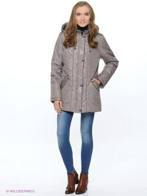 Куртка LIDIA Maritta. Цвет: серо-коричневый